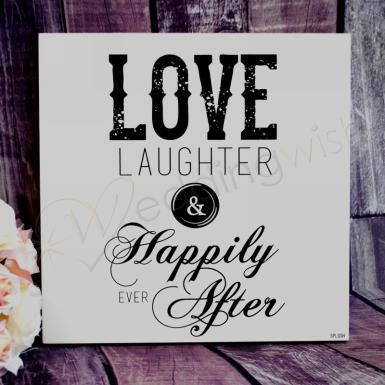 Wedding Happily Ever After Wall Plaque - Wedding Wish Image 1