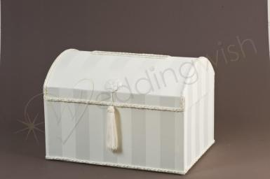 Wedding  Treasure Chest Ivory Satin Card Keeper Image 1