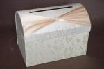 Ivory and Cream Satin Treasure Chest with Floral Detail image