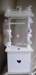 Country Roses Wedding Wishing Well with Light Up Garland image