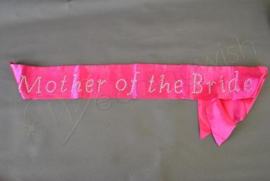 Wedding Mother of the Bride Sash with Bling - Wedding Wish Image 1