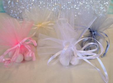 Wedding Organza Circles with Pull Strings x 10 - Wedding Wish Image 1