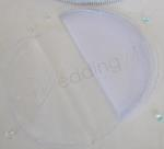 Organza Circles with Glitter Edge x 10 image