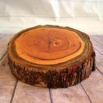 Rustic Tree Slab Cake Stand Small - HIRE image