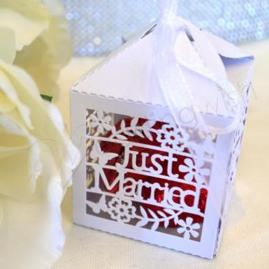 Wedding Just Married Laser Cut Boxes x 20 - Wedding Wish Image 1