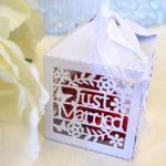 Just Married Laser Cut Boxes x 20 image