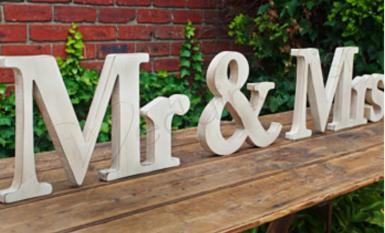 Wedding Mr and Mrs Extra Large Natural Timber Sign - Wedding Wish Image 1