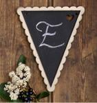 Timber Bunting Flags - DIY Message x 5 image