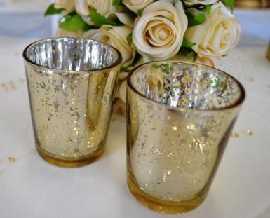 Wedding Silver, Gold or Rose Gold Tealight Candle Holders x 12 - Wedding Wish Image 1