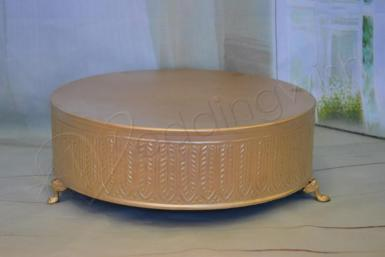 Wedding Gold Vintage Cake Stand - Hire - Wedding Wish Image 1