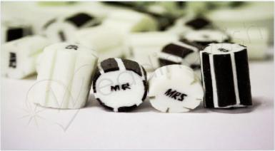 Wedding Mr and Mrs Rock Candy - 500g - Wedding Wish Image 1