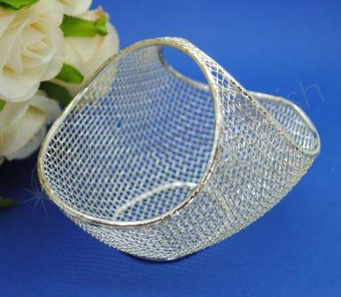 Wedding Bomboniere - silver mesh basket - Wedding Wish Image 1
