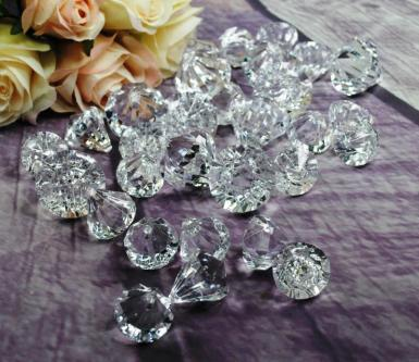 Wedding Clear Diamond Shaped Acrylic Scatters - 30pc - Wedding Wish Image 1