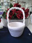 Flower Basket - White with Bling image