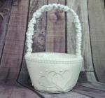 Flower Basket - Ivory Heart image