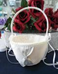 Flower Basket - Ivory with Mini Diamante Clasp image