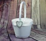 Flower Basket - Diamante Heart Bling image