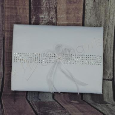 Wedding Guest Book - Bling Row - Wedding Wish Image 1