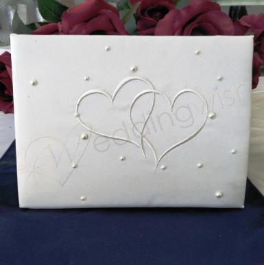 Wedding Guest Book - Ivory Heart - Wedding Wish Image 1