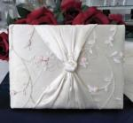 Guest book -Ivory with peach rosebuds image