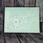Guest Book - Ivory Rustic Linen Look with Lace image