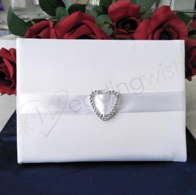 Wedding Guest Book - Heart Bling - Wedding Wish Image 1