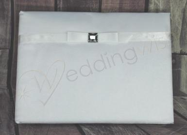 Wedding Guest Book - Princess Square Diamante - Wedding Wish Image 1