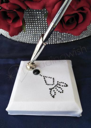 Wedding Pen Stand - Black and White - Wedding Wish Image 1