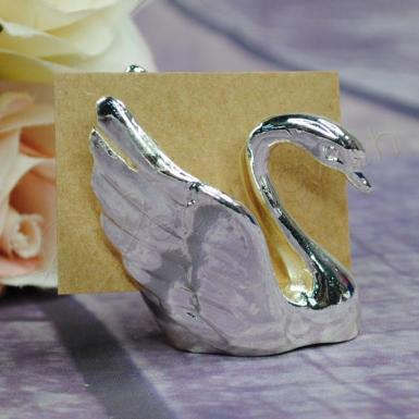 Wedding Placecard holders - Silver Swan x 4 pieces - Wedding Wish Image 1