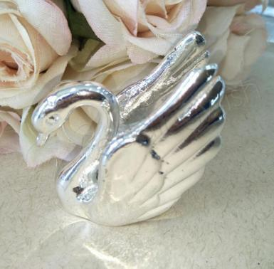 Wedding Silver Metal Swan x 4 - Wedding Wish Image 1
