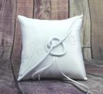 Ring Cushion - White Ring Pillow Love Knot image