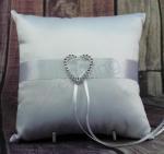 Ring Cushion - Diamante Heart Bling image