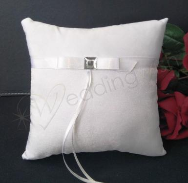 Wedding Ring Cushion - White Princess Ring Pillow - Wedding Wish Image 1