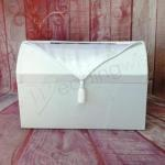Classic White Treasure Chest with Satin Overlay image