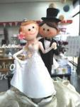Bride and Groom Dancing Cake Topper image