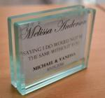 Glass Placecard Holders image