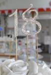 Diamante Gold Number Cake Picks image