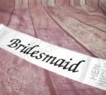 Hens Party White Satin Sashes  image