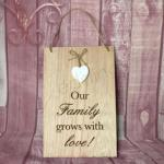 Wall Plaque - Our Family Grows with Love image