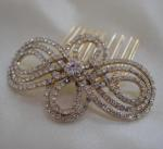 Gold Diamante Hair Comb image
