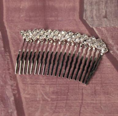 Wedding Small Diamate Side Comb - Flower Girl Comb - Wedding Wish Image 1