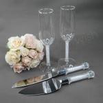 Crystal Stem Toasting Glasses and Server Set Box Set image