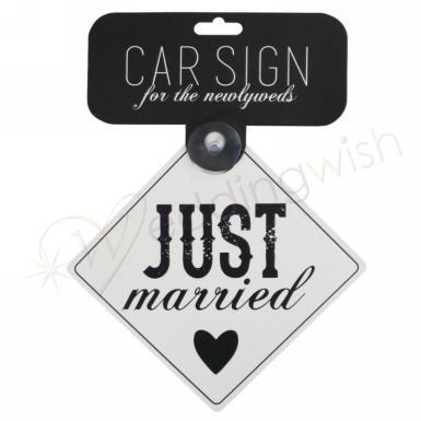 Wedding Just Married Car Sign - Wedding Wish Image 1
