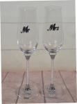 Toasting Glass- Mr and Mrs Silver Script image