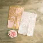 Love Tree Design Laser Cut Wedding Invitation image