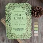 Unique Flat Laser Cut Wedding Invitations image