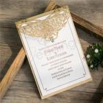 Elegant Pearl Laser Cut Wedding Invitation Cards image