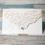 Elegent White Diamond Laser Cut Invitations image