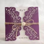 Fantastic purple laser cut invitations image
