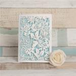 Magical White Floral Lacer Cut Folded Wedding Cards image